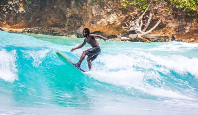 Surfing Boston Bay - Portland Jamaica