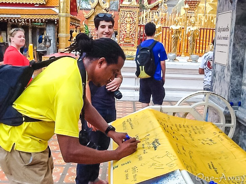 Wat Phra That - Doi Suthep Signing Scroll