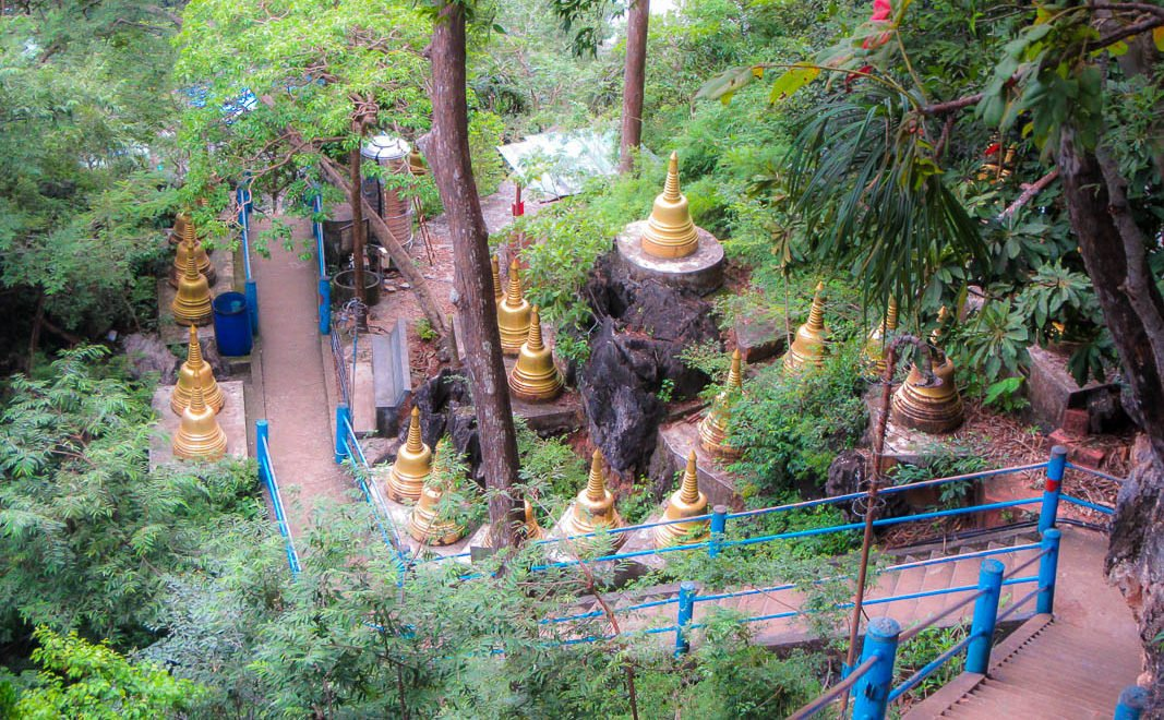 Tiger Cave Temple View Down Stairwell Krabi