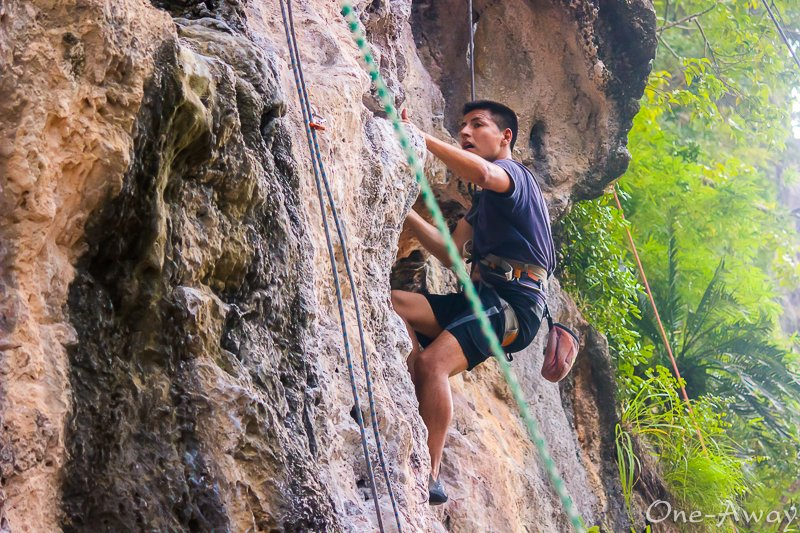 Rock Climbing with Dropship Lifestyle Retreat Krabi Thailand
