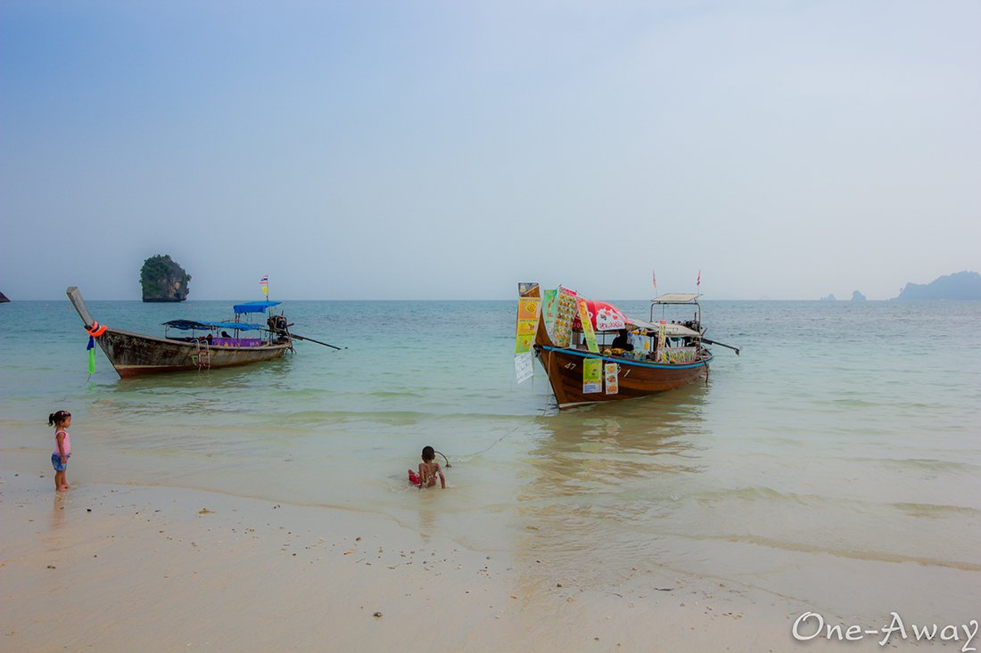 Coast of Phra Nang Cave beach