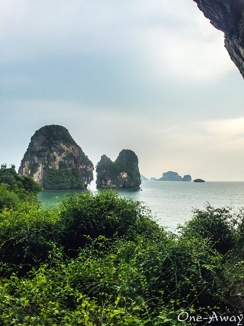 Viewpoint from Caves On Phra Nang Cave Beach Krabi Thailand